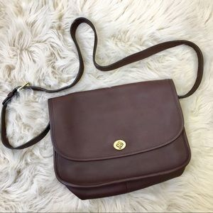 Coach Vintage City Crossbody Bag. Dark Brown